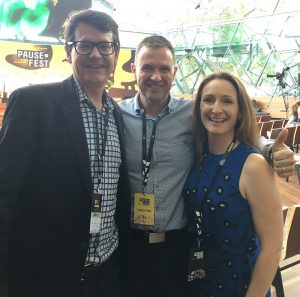 Matt and Liz Raad with President of General Assembly Scott Kirkpatrick