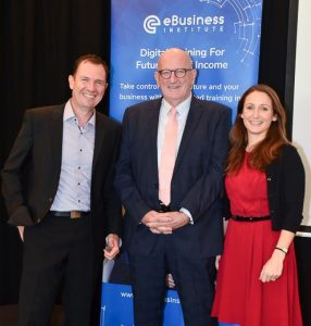 Matt and Liz Raad with Professor Alan Patching at ebusiness Institute bootcamp