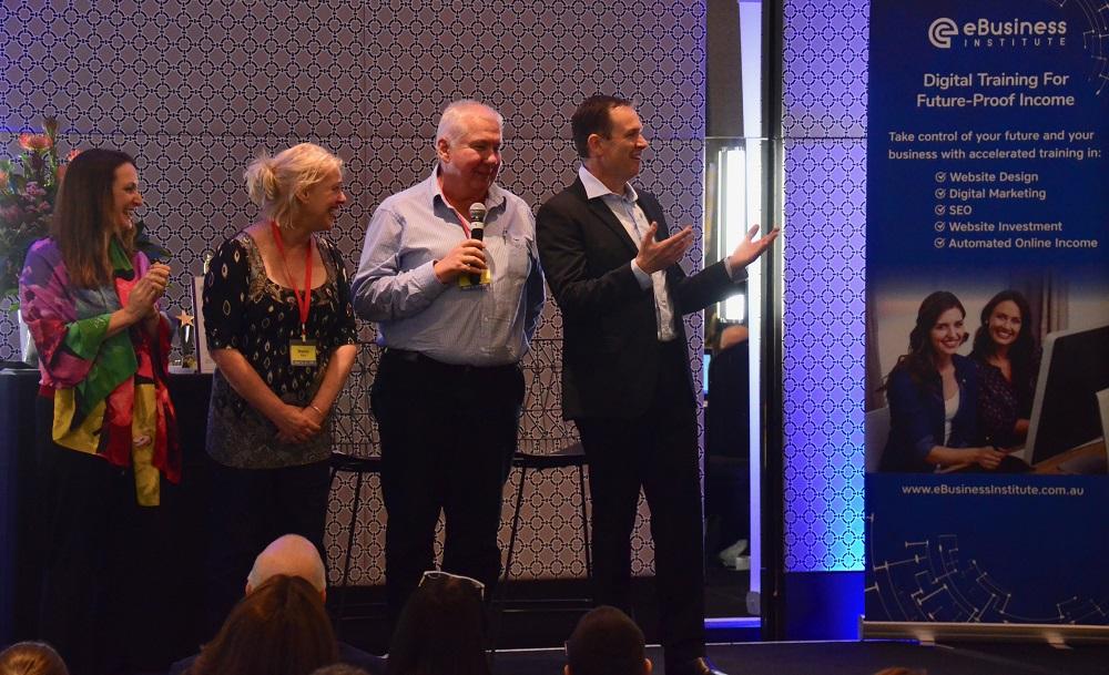 Kath and Rob Rushford speak at eBusiness Institute live training event