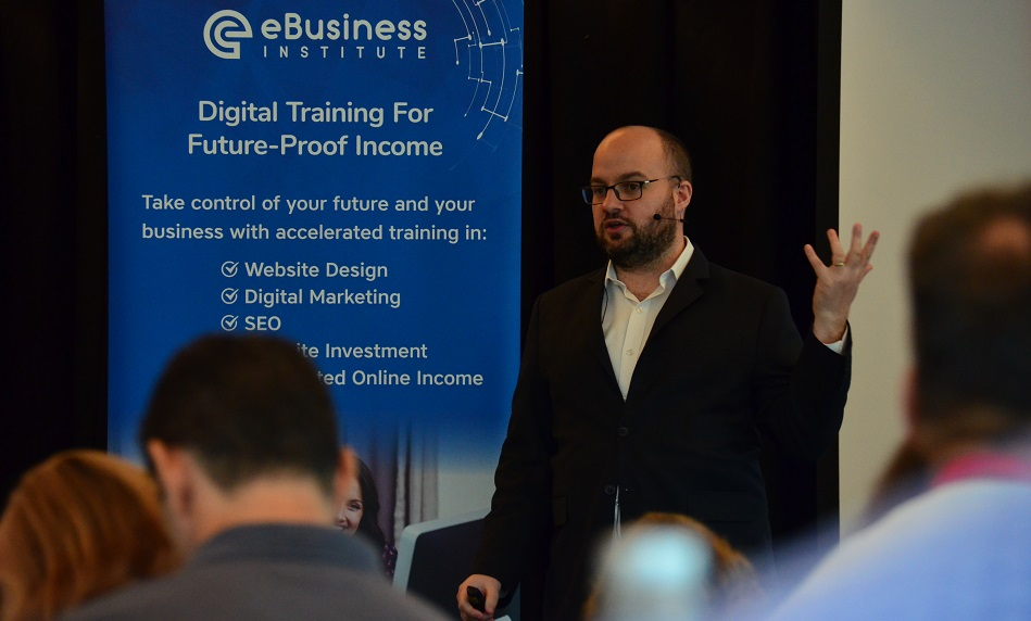 Thomas Smale presents at digital training boot camp