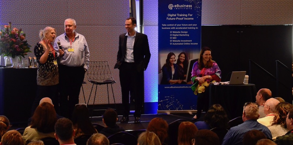 Kath n Rob Rushford share their website success at the eBusiness Institute 3 Day Summit