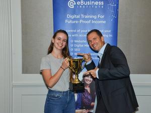 EBusiness Institute Graduate of the year Jasmine Facchini from https://velvetdigitalmarketing.com.au/