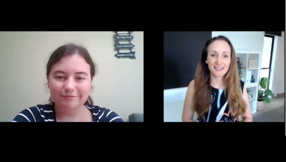 Student shares with Liz Raad how she started her online business